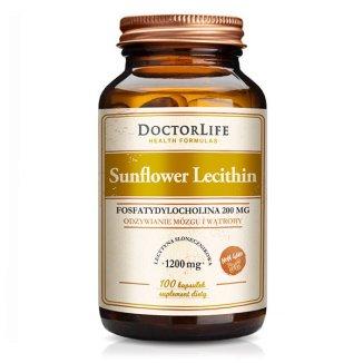 Doctor Life Sunflower Lecithin, 100 kapsułek - zdjęcie produktu