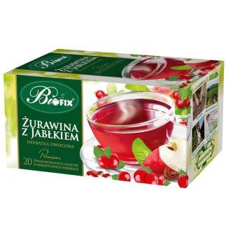 Bi Fix, Premium Żurawina z jabłkiem, herbatka owocowa, 20 saszetek - zdjęcie produktu
