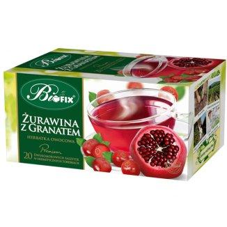 Bi Fix, Premium Żurawina z granatem, herbatka owocowa, 20 saszetek - zdjęcie produktu