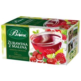 Bi Fix, Premium Żurawina z maliną, herbatka owocowa, 20 saszetek - zdjęcie produktu