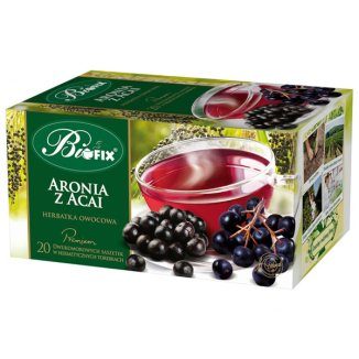 Bi Fix, Premium Aronia z Acai, herbatka owocowa, 20 saszetek - zdjęcie produktu