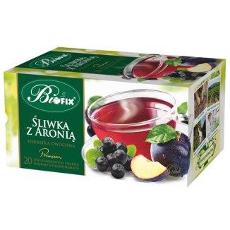 Bi Fix, Premium Śliwka z aronią, herbatka owocowa, 20 saszetek - zdjęcie produktu