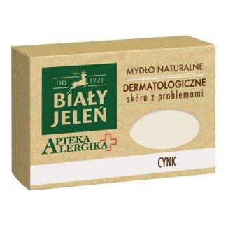 Biały Jeleń Apteka Alergika, naturalne mydło dermatologiczne, cynk, 125 g - zdjęcie produktu