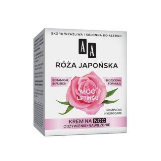 AA Moc Roślin, Róża Japońska, krem do twarzy 60 +, na noc, 50 ml - zdjęcie produktu