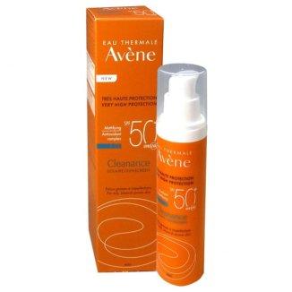 Avene Cleanance Sun, emulsja ochronna do twarzy, skóra tłusta i trądzikowa, SPF50+, 50 ml - zdjęcie produktu