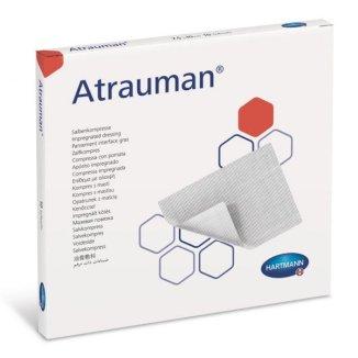 Atrauman, opatrunek z maścią, jałowy, 5 cm x 5 cm, 10 sztuk - zdjęcie produktu