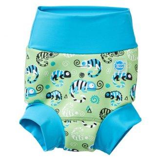 Splash About, Happy Nappy, pieluszka do pływania, Green Gecko, 3-6 miesięcy, rozmiar M, 1 sztuka - zdjęcie produktu