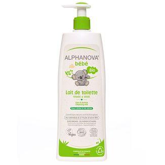 Alphanova Bebe, organiczne mleczko do mycia z oliwką dla niemowląt, 500 ml - zdjęcie produktu