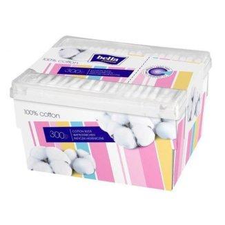 Patyczki higieniczne Bella Cotton, pudełko, 300 sztuk - zdjęcie produktu