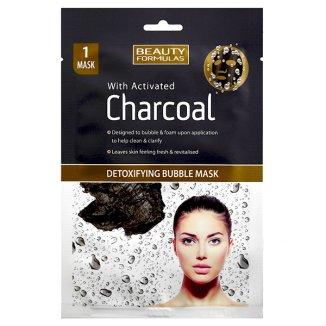 Beauty Formulas Charcoal, maska detoksykująca bąbelkowa z aktywnym węglem, 1 sztuka - zdjęcie produktu