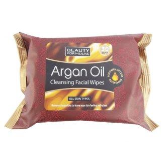 Beauty Formulas, chusteczki do twarzy, oczyszczające z olejkiem arganowym, 30 sztuk - zdjęcie produktu