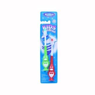 Beauty Formulas, Active Oral Care, szczoteczka do zębów dla dzieci, Kids QuickBrush, pingwin, 3-6 lat, 2 sztuki - zdjęcie produktu