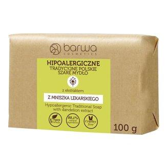 Barwa Hipoalergiczne, tradycyjne polskie szare mydło, mniszek lekarski, 100 g - zdjęcie produktu