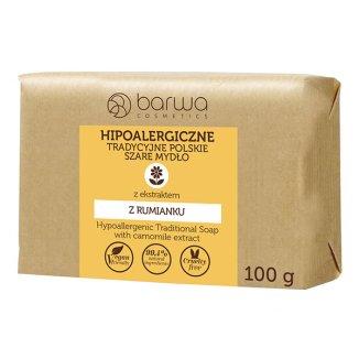 Barwa, Hipoalergiczne Tradycyjne Polskie, mydło szare, z ekstraktem z rumianku, 100 g - zdjęcie produktu