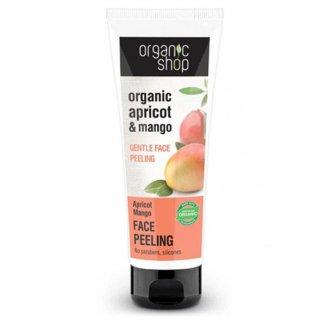 ORGANIC SHOP, peeling do twarzy, morela mango, 75 ml - zdjęcie produktu