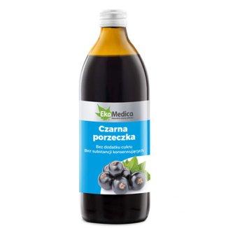Czarna Porzeczka, sok, EkaMedica, 500 ml - zdjęcie produktu