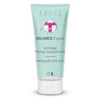 Flos-Lek Balance T-zone, Gommage peeling z kwasami AHA, 125 g - zdjęcie produktu