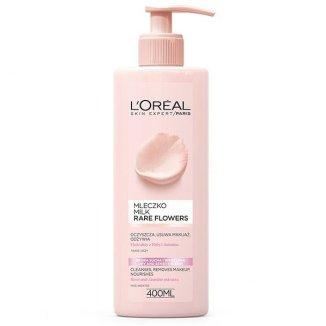L'Oreal Skin Expert Rare Flowers, mleczko z ekstraktami z róży i jaśminu, 400 ml - zdjęcie produktu
