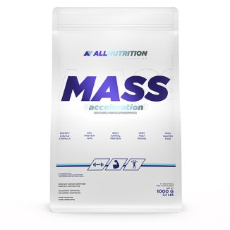 Allnutrition, Mass Acceleration, gainer, smak ciastko, 1000 g - zdjęcie produktu