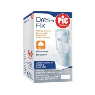 Pic Solution Dress Fix, bandaż bawełniany, obrębiony, 5 cm x 5 m, biały, 1 sztuka - zdjęcie produktu