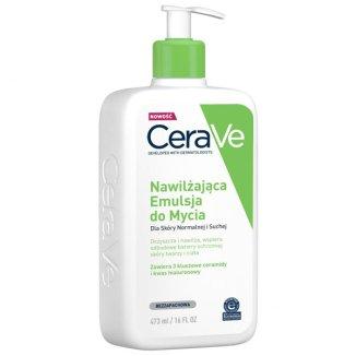 CeraVe, emulsja nawilżająca do mycia, skóra normalna i sucha, 473 ml - zdjęcie produktu