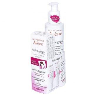 Avene Antirougeurs Jour, emulsja nawilżająca, 40 ml + mleczko oczyszczająco - odświeżające, 200 ml - zdjęcie produktu