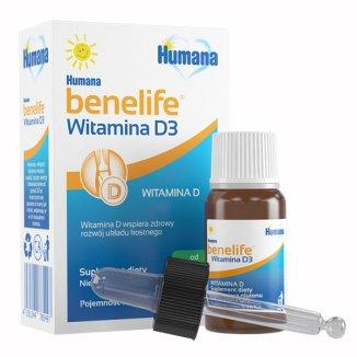Humana benelife Witamina D3, krople dla dzieci od urodzenia, 5 ml - zdjęcie produktu