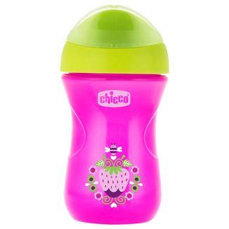 Chicco Easy Cup, kubek niekapek z twardym ustnikiem, Girl, od 12 miesiąca, 266 ml - zdjęcie produktu