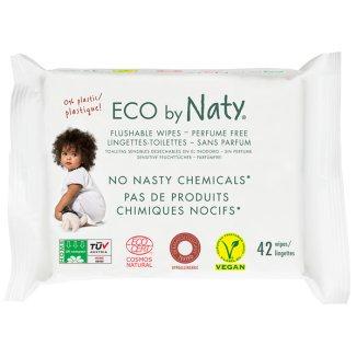 Eco By Naty, chusteczki nawilżane toaletowe, dla dzieci, 42 sztuki - zdjęcie produktu