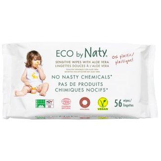 Eco By Naty, chusteczki nawilżane z aloesem, dla dzieci, 56 sztuk - zdjęcie produktu