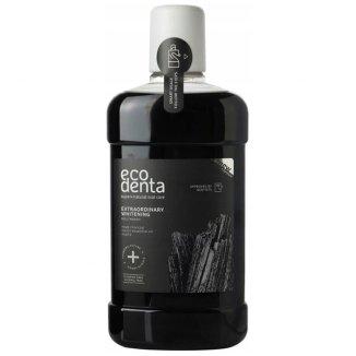 Ecodenta, wybielający płyn do płukania jamy ustnej z czarnym z węglem, 500 ml - zdjęcie produktu