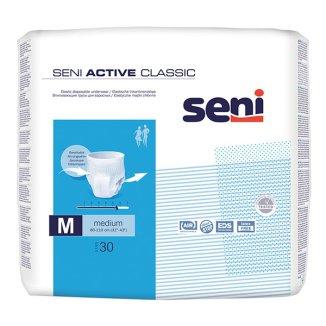 Seni Active Classic, majtki chłonne, Medium, 80-110 cm, 30 sztuk - zdjęcie produktu