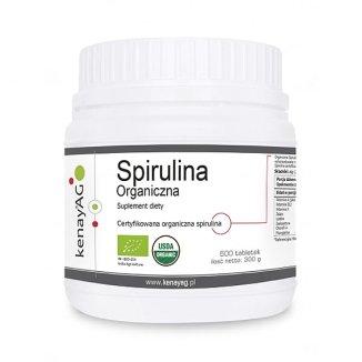 KenayAG, Spirulina Organiczna, 600 tabletek - zdjęcie produktu