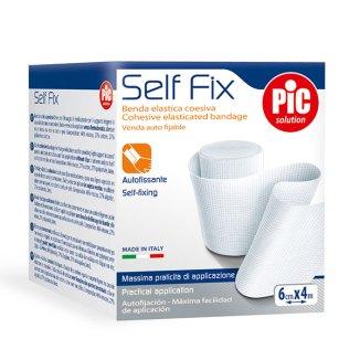 Opaska elastyczna, PIC SOLUTION, Self Fix, samoprzylepna, 6 cm x 4m, 1 sztuka - zdjęcie produktu