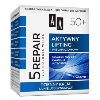 AA Technologia wieku 5 Repair, krem silnie ujędrniający 50 +, na dzień, 50 ml - zdjęcie produktu