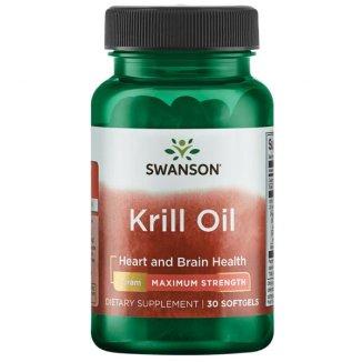 Swanson Krill Oil, olej z kryla antarktycznego, 30 kapsułek - zdjęcie produktu