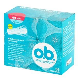 Tampony higieniczne, OB ProComfort, Mini, 56 sztuk - zdjęcie produktu
