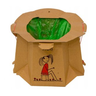 Tron Eko, jednorazowy nocnik turystyczny dla dzieci, brązowy, 1 sztuka - zdjęcie produktu