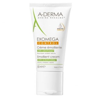 A-Derma Exomega Control, krem emolient, skóra sucha i skłonna do atopii, 50 ml - zdjęcie produktu