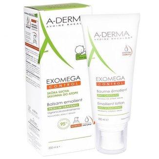 A-Derma Exomega Control, balsam emolient, skóra sucha i skłonna do atopii, 200 ml - zdjęcie produktu