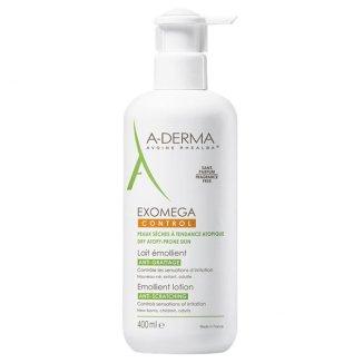 A-Derma Exomega Control, mleczko emolient, skóra sucha i skłonna do atopii, 400 ml - zdjęcie produktu