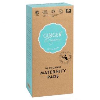 GingerOrganic, podkłady poporodowe, 10 sztuk - zdjęcie produktu