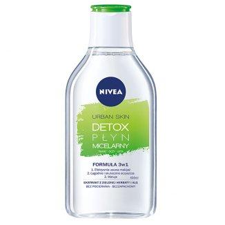 Nivea Urban Skin Detox, płyn micelarny 3w1, 400 ml - zdjęcie produktu