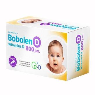 Bobolen D, witamina D 800 j.m., 90 kapsułek twist off - zdjęcie produktu