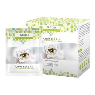 Prodex Sensitive, chusteczki do skóry wrażliwej i bardzo wrazliwej, 20 sztuk - zdjęcie produktu