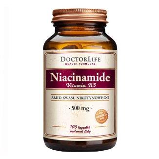 Doctor Life Niacinamide, niacyna 500 mg, 100 kapsułek - zdjęcie produktu