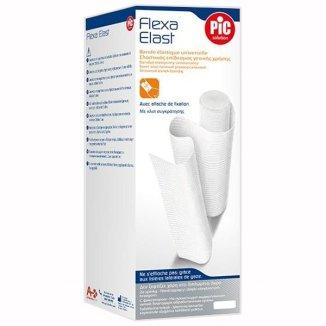 Bandaż elastyczny, PIC SOLUTION, Flexa Elast, biały, 12 cm x 4,5m, 1 sztuka - zdjęcie produktu