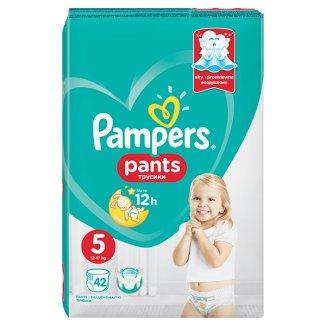 Pampers Pants, pieluchomajtki, rozmiar 5, 12-17 kg, 42 sztuki - zdjęcie produktu