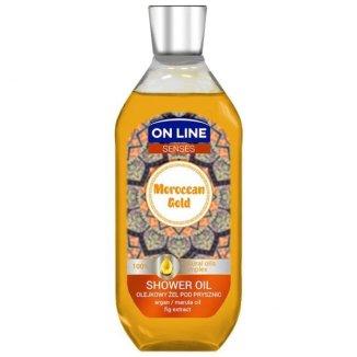 On Line Senses, olejkowy żel pod prysznic Moroccan Gold, 500 ml - zdjęcie produktu