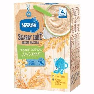Nestle, Skarby zbóż, kaszka mleczna, pszenno-owsiana, owsianka, po 4 miesiącu, 250 g - zdjęcie produktu